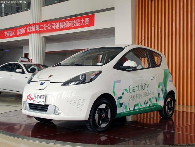 宝骏E100电动车实车图 或今年10月上市高清图片